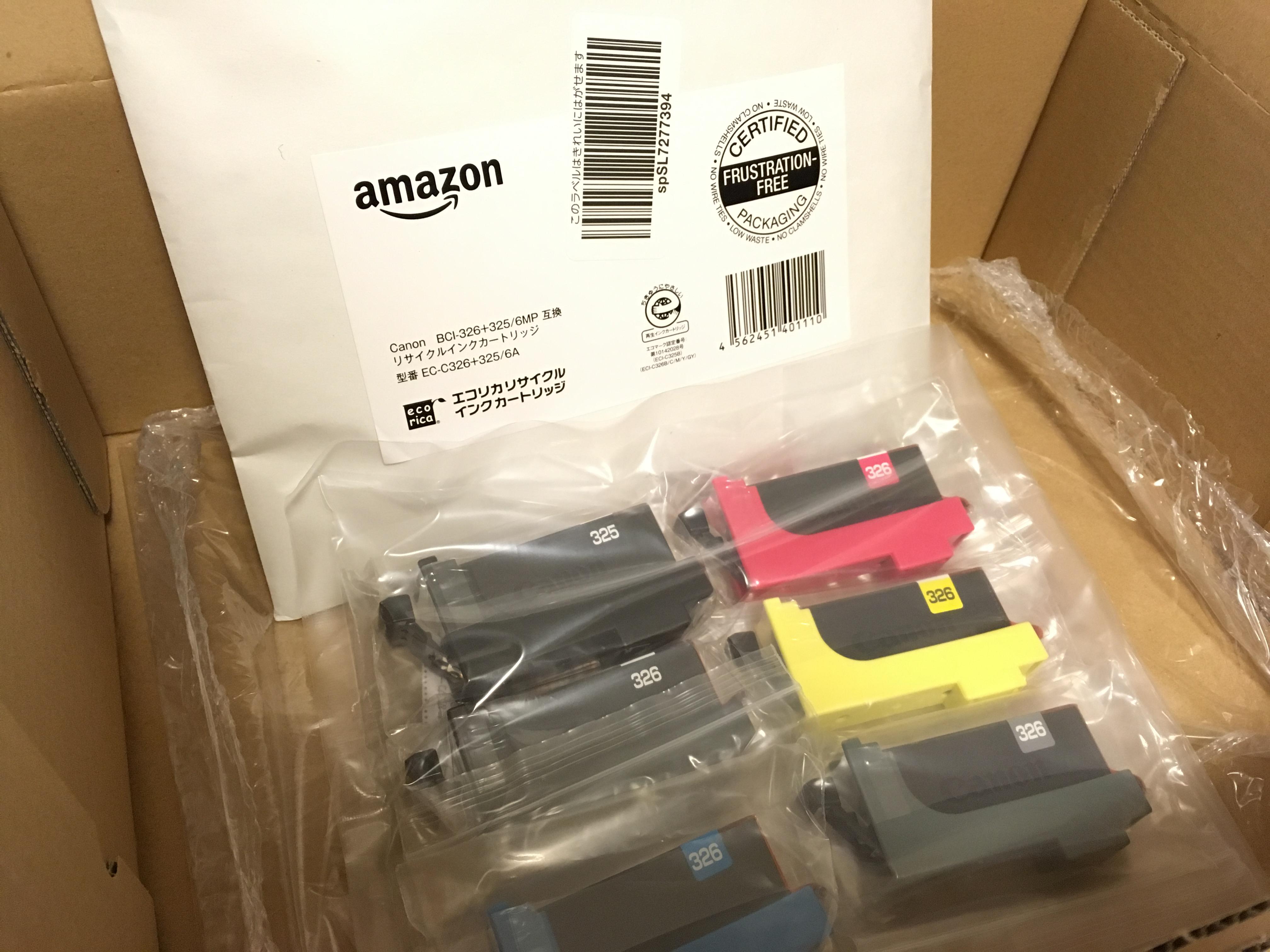 Amazonプライム会員の当日お急ぎ便でインクを頼んでみました